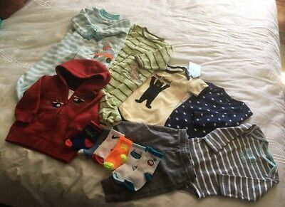 Infant Baby Boys Clothes/Socks 3-6 Mo Lot Of 8 Fall/Winter- Carters,Gymboree