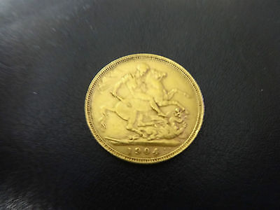 Gold Sovereign 1904 King Edward VII, Full