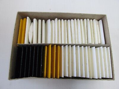 Lot of 48 Pieces Tailor's Wax Chalk White Black Yellow
