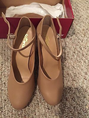 So Danca Character Shoes CH53 Caramel 3 Inch Heel - New In Box -8 1/2 L