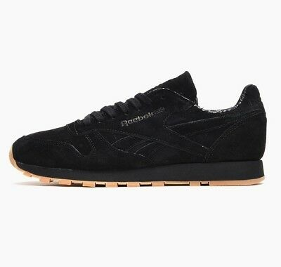 Reebok Classic Leather Paisley Pack - Black/gum - Bd3230 - Uk 6, 7, 8, 9, 10, 11