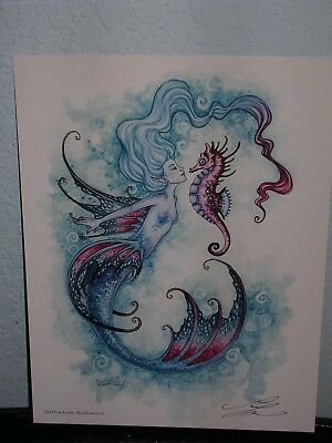Amy Brown - Sea Horse Crush - SIGNED - New