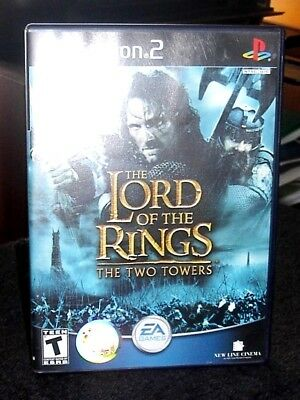 Lord of the Rings The Two Towers Sony PlayStation 2  Game, Case and Booklet
