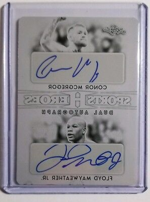 2017 Leaf Metal Sports Heroes Conor McGregor Floyd Mayweather Jr. Dual Auto 1/1