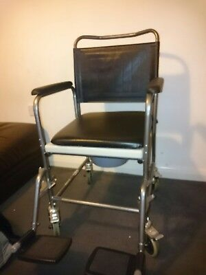 commode wheeled toilet chair.