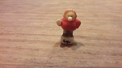 French Feves Porcelain Hand Painted Miniature Figure.