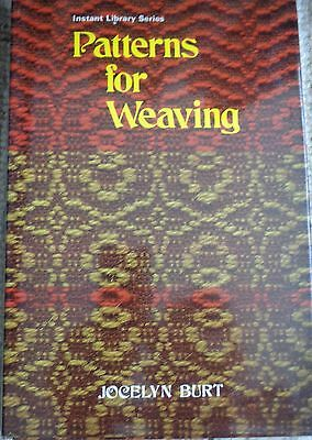 Patterns for Weaving: Jocelyn Burt hardback book 1975