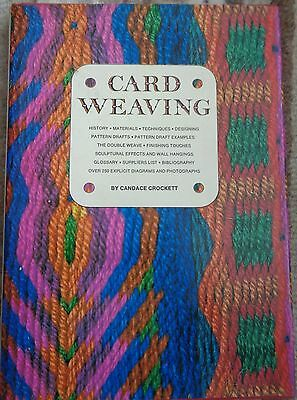CARD WEAVING by CANDACE CROCKETT 1973 book