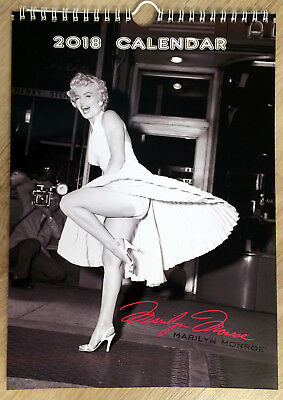 Marilyn Monroe Wall Calendar 2018 Erotic Retro Sexy Nude Girl A4 New Sealed