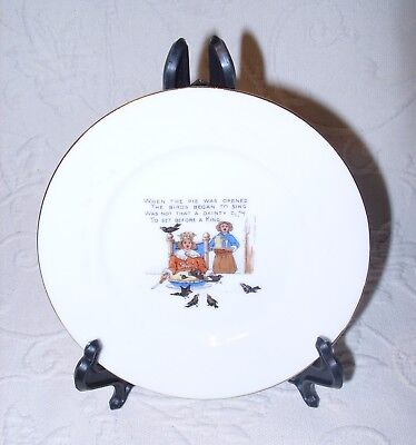 "VTG Noritake Hand Painted Porcelain Mother Goose Nursery Rhyme Child's 5"" Plate"