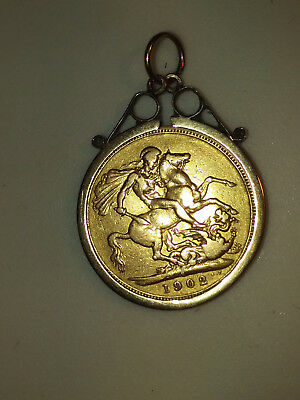 1902 Edward Vii Gold Sovereign - Good Condition