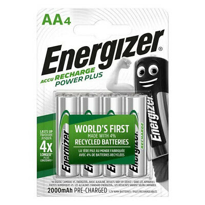 Energizer Power Plus AA HR6 2000mAh Rechargeable Batteries | 4 Pack