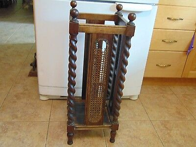 antique  jaccobean  umbrella stand    nice      #  4659