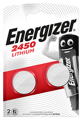Energizer CR2450 Coin Cell 3V Lithium Batteries   2 Pack