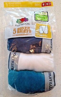 NEW Fruit of the Loom Boys 3 Pack Boxer Briefs Size M 10-12 SEE DESCRIPTION