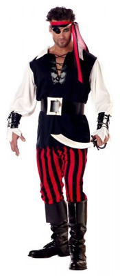 Men's  Cutthroat Imported Pirate Costume Cosplay Disguise Halloween Large Size