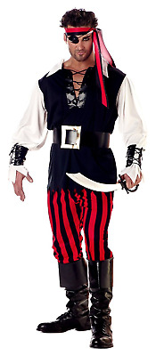 Men's Cutthroat Imported Pirate Costume Cosplay Disguise Halloween X-Large Size