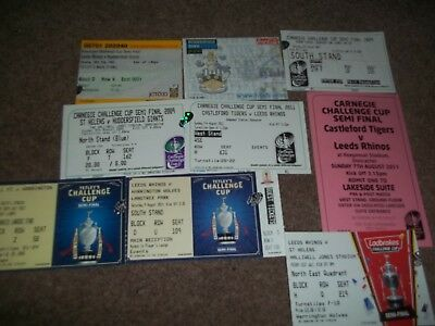 Rugby League Challenge Cup Semi Final Ticket Collection 2006 - 2015 X 9