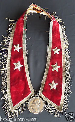 John Adams Presidential Peace & Friendship Medal + Original Presentation Collar