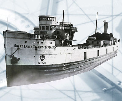 "Model Boat Plans RADIO CONTROL  45""  LAKE FREIGHTER FULL SIZE Printed  PLANS"