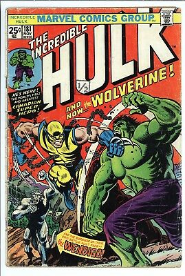 Incredible Hulk #181 Vol 1 Nice Lower/Mid Grade 1st App of Wolverine Missing MVS