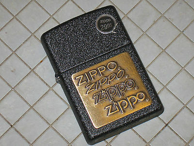 12362 New Windproof Flame Zippo USA Lighter Vintage logos on old Brass Emblem