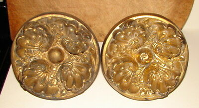 """Pair Antique Victorian 6"""" Wide Theater Curtain Tie Backs"""