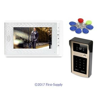 """7"""" Wired Video Door Entry Security Intercom with Mute Mode for Home Security"""