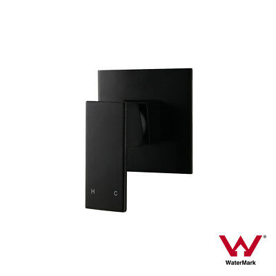 Premium Electroplated | Square Matte Black Ultra Slim Wall Shower Bath Mixer