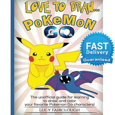 Pokemon Go Drawing Book Creative Colouring Book Paperback Kids GIft Cartoons