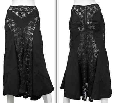 New Sz L Junya Watanabe Long Black Lace Skirt Commes Des
