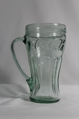 VTG Vintage Retro Coke Coca Cola Beverage Glass Mug Green
