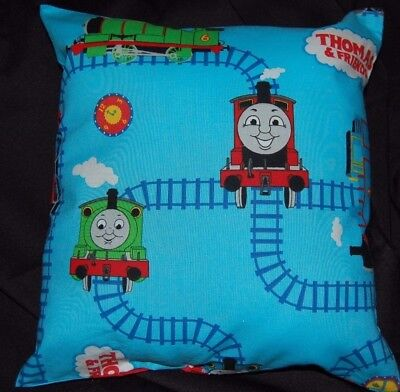 New Handmade Thomas The Tank Engine Travel /daycare  Pillow    Light Blue