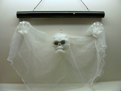 New scary 7 foot ft hanging creepy clown it halloween for Animated floating ghost decoration