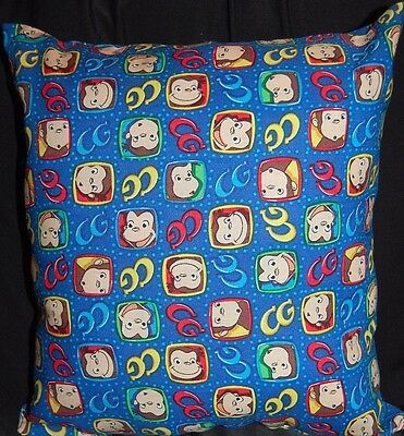 New Handmade Curious  George Face Toddler/ Daycare / Travel Pillow Circles