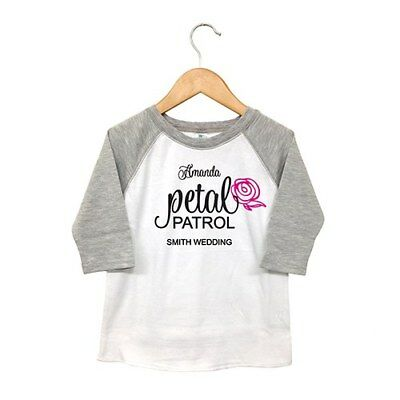 Petal Patrol Personalized Toddler Flower Girl T-Shirt Wedding Gift Q28453