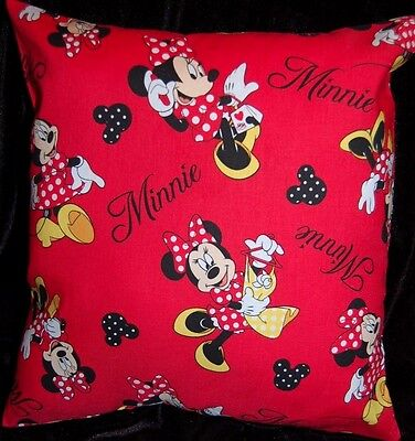 New Handmade Disney  Minnie Mouse Red  Flannel Toddler Pillow