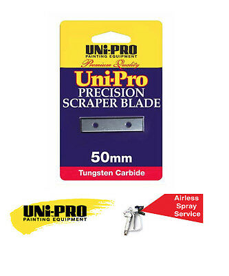 Uni-Pro Precision Scraper Blades 50Mm - Premium Quality - Tungsten Carbide