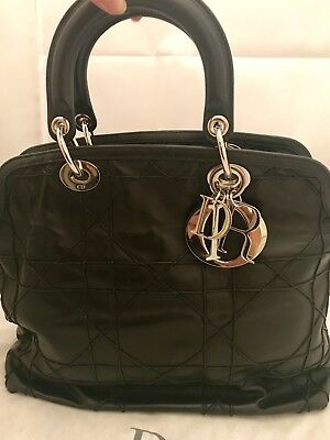 20c802f1633e Christian Dior Black Lambskin Granville Bag SHW Dust Bag EUC  3000