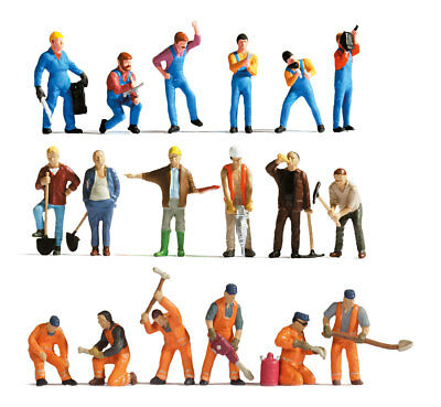 "Noch 75135-2 - H0 Figurines 1:87 Anniversary Set "" at Work "" NEW ORIGINAL"
