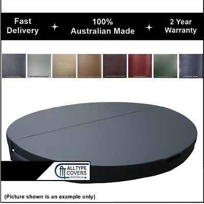 Custom Australian Made Lockable Insulated Hard (ROUND) Spa Cover-2 Year Warranty
