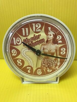 Wonder Woman Cordless Alarm Clock DC Comics Parts Or Repair - Rare Vintage