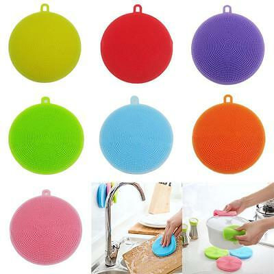 Multipurpose Antibacterial Silicone Smart Sponge Cleaning Dish Kitchen Tool ☪DS