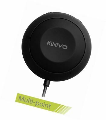 Kinivo BTC455 Bluetooth Hands-Free Car Kit for Cars with Aux Input Jack (3.5 mm)