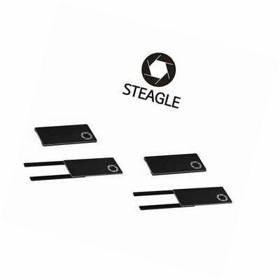 STEAGLE1.0 Two Pack Laptop Webcam Cover for Privacy Shield (Black)