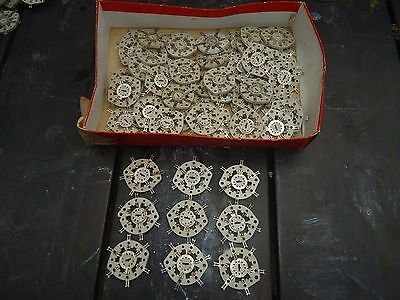 Vintage  Ceramic  Rotary  Contact Switch Wafers  50  Pieces