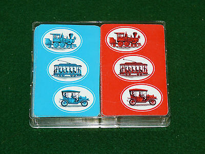 Vintage Rare Collectible Double Deck Train Streetcar Old Car Playing Cards,