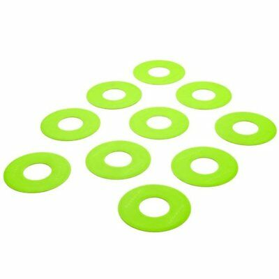Flat Rubber Dot Markers - 10 Pack - Fluro Yellow