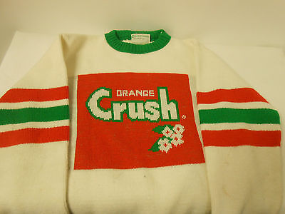 Vintage 70`s Unofficial Denver Broncos Sweater Orange Crush By Imperial