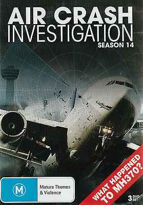 Air Crash Investigations Season 14 (3-DVD SET) All Regions PAL NEW, BUT UNSEALED
